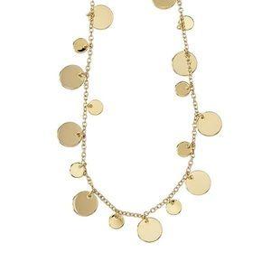 Lia Sophia Gold Long Circle Necklace